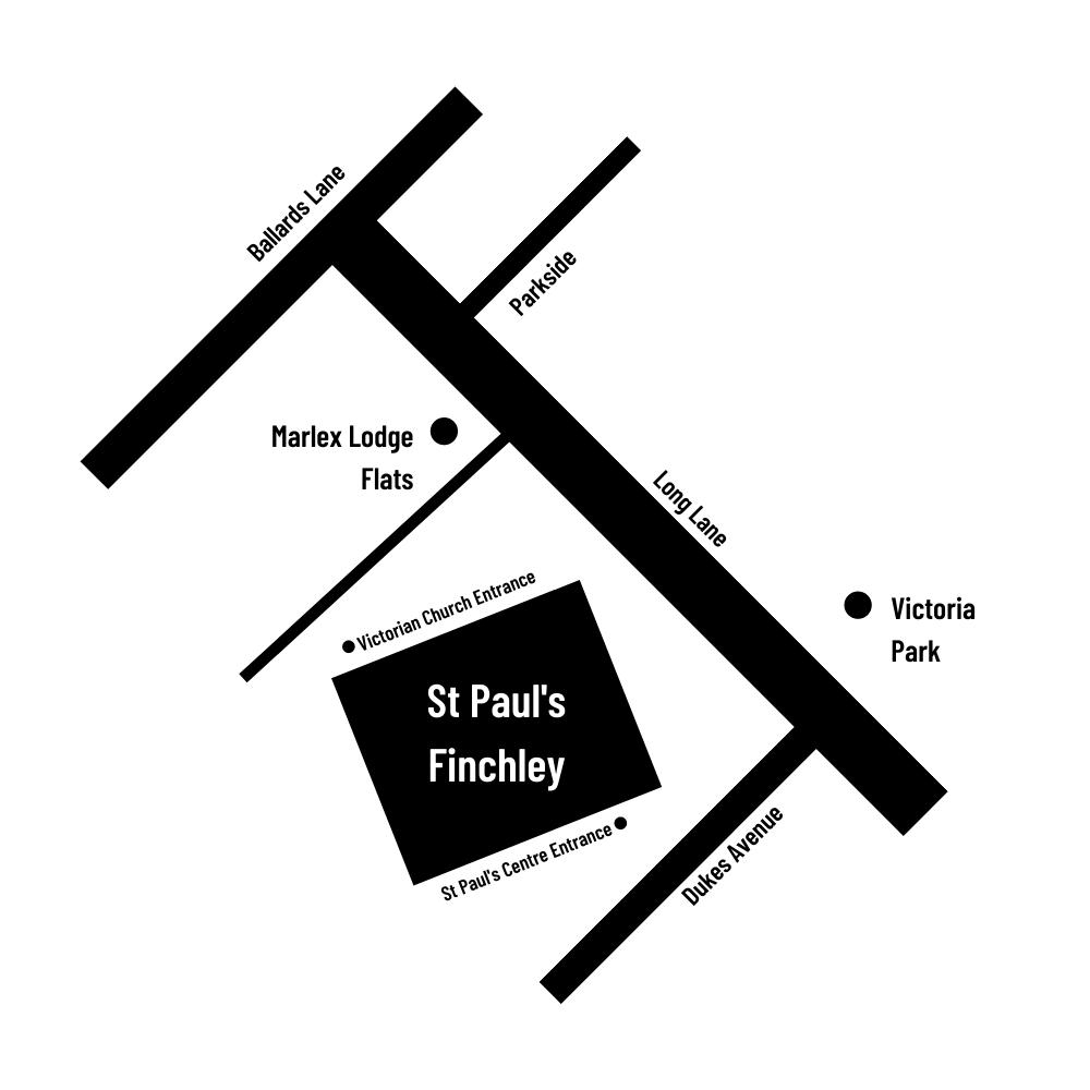 St Paul's Finchley Map