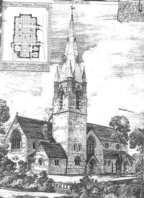 St Paul's Finchley Original Design 1800s